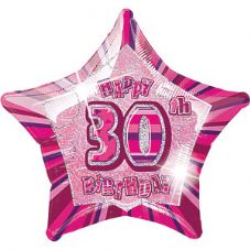 Pink Glitz 'Happy 30th Birthday' Foil Balloon